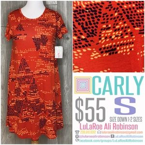 LuLaRoe Carly - Size S - Orange  - NWT